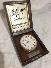 longines chronometer rare antique ship clock 1930