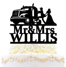 Personalized Funny Truck Military Wedding Cake Topper Mr And Mrs Bride Groom