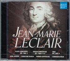 Jean-Marie LECLAIR Flute Violin Concerto Trio Op.7 CAMERATA KÖLN Karl Kaiser CD