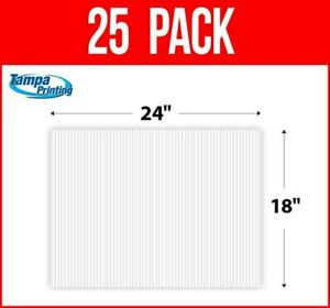"""25 pack WHITE BLANK 18"""" x 24"""" Plastic Corrugated 4mm Political Yard Signs Coro"""