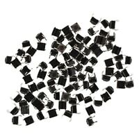 100 Pcs 6x6x4.5mm Panel PCB Momentary Tactile Tact Push Button Switch 4 Pin S2P