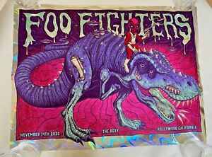 2020 Foo Fighters The Roxy LAVA FOIL AE #4/17 Poster Print Jim Mazza SIGNED