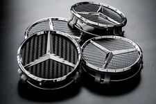 4 Mercedes AMG CARBON FIBRE style Wheel Centre Hub Caps Great for Refurb or New