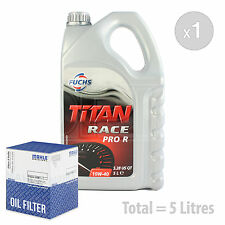 Engine Oil and Filter Service Kit 5 LITRES Fuchs Titan Race Pro R 10W-40 5L