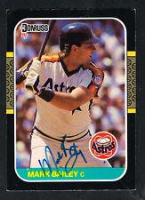 Mark Bailey #235 signed autograph auto 1987 Donruss Baseball Trading Card