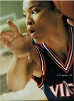 1996 NIKE : DAWN STALEY ( VIRGINIA Basketball)   Magazine  Print Ad 2-pg