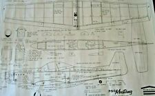 House of Balsa 1/12 Scale P-51D Mustang .051 to .10 Engine RC Airplane Plans