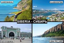 SOUVENIR FRIDGE MAGNET of SIBERIA RUSSIA
