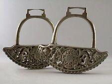PAIRE ETRIERS du Brésil ,métal argenté, Stirrup, Steigbügel, équitation, cheval