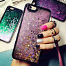 Dynamic Quicksand Glitter Heart Liquid Hard Case Cover For iPhone X 8 6s 7 Plus