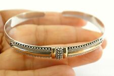 No Stone 18 K Gold Vermeil 925 Sterling Silver Cuff Bangle Bracelet