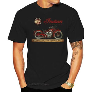 Indian Motorcycle Classic Biker T-Shirt Black New Size S-5XL