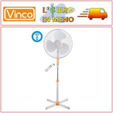 VENTILATORE A PIANTANA VINCO 70704 BIANCO 3 PALE 45 WATT  + TELECOMANDO E TIMER