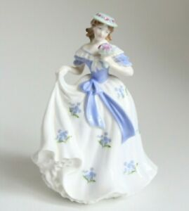 Lovely Royal Worcester Ltd Edition 'Sweet Forget Me Not' Lady Figurine #4005