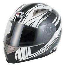 Vcan V158 casco de viento Fullface Motocicleta Moto Scooter Negro/Blanco XL