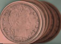 6 X Vintage Unused Liberty Head Quarter Folder for all 1892-1903 Coins