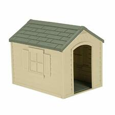 Suncast Outdoor Dog House with Door - Water Resistant and Attractive for Smal.