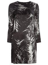 McQ Alexander McQueen Feather Print Satin Dress Size 46
