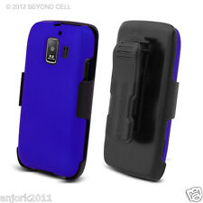 Huawei Fusion 2 AT&T U8665 Hard Case+Holster Combo w/ Swivel Belt Clip Blue