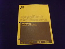 CAT CATERPILLAR 3508 3512 INDUSTRIAL ENGINE OPERATION & MAINTENANCE MANUAL