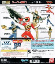 HG Heros Super Sentai 1 Gashapon Zyuden Kyoryugers Kyoryu Red Blue Gold Set 6pcs