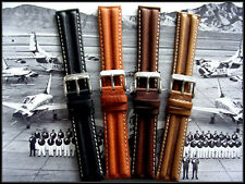 22mm Brown Khaki Pilot Aviator Military Leather watch band strap IW SUISSE 18 20