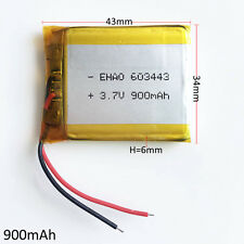 603443 900mAh Lipo Polymer Battery 3.7V Rechargeable For GPS Camera mobile phone