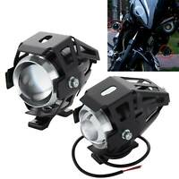 2X 12W U5 Motorcycle Motorbike Headlight LED Fog Spot Lights Bulb Angle Eye Lamp