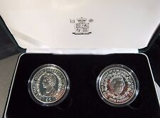 2001 Channel Island L5 2 Coin Set Proof QEII 75th Bday ** FREE U.S. SHIPPING **