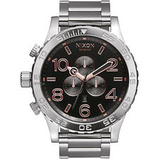 New Authenitc NIXON Watch 51-30 CHRONOGRAPH Gray / Rose Gold A083-2064 A0832064