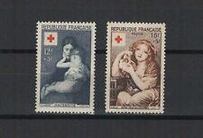 FRANCE 1954 au profit de la Croix-Rouge 2 timbres neufs /T1851