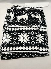 Christmas Holiday Legging White&Black  Snowflake&Reindeer Soft ONE Size from USA