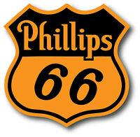 VINTAGE PHILLIPS 66 GASOLINE SUPER HIGH GLOSS OUTDOOR 4 INCH DECAL STICKER