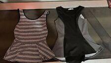 2 Dressy Tank Tops Joyce Leslie Manito White Black Size Large