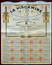 ACTION LA VISCAMINE A PONTCHARRA SUR BREDA, 5 BONSDE 100 FRANCS 1928