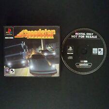 SPEEDSTER PlayStation UK PAL English・♔・BLOCKBUSTER EX RENTAL complete PS1 PS2