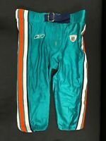 MIAMI DOLPHINS GAME USED TEAL REEBOK FOOTBALL PANTS SZ 42 VINTAGE