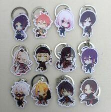 Anime Game Touken Ranbu Online Acrylic Pendant Keychain Keyring 12pcs/set Gift