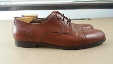 Used Cole Haan Bragano Men's Brown Size 11 M Leather Captoe Dress Shoes Italy