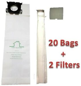 Casa Vacuums Brand replacement Sebo, Windsor Bag Filter Kit. 20 Bags + 2 Filters