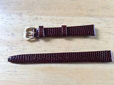 KREISLER WATCH BAND BRACELET Lizard Grain Leather - 12mm Brown 232102-12