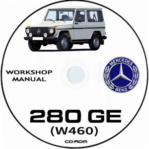 Mercedes G Klass.Workshop manual Mercedes 280 GE