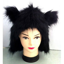 Animal Hood With Black Fur - Hat Halloween Earscatbearmonster Fancy Dress