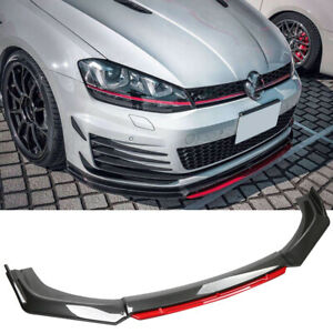 Front Bumper Lip Splitter Carbon Fiber For VW Golf MK5 MK6 MK7 MK7.5 GTI GTD R