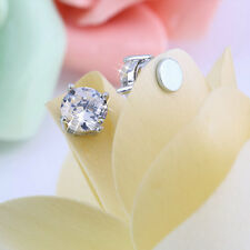 1pair Stylish Unisex Mens Womens Clear Crystal Magnet Earring Earrings Stud OK