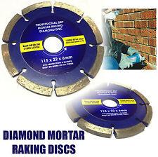 """Diamant Mortier maçonnerie mixte Ratisser Disque 115x22mm 4 1/2"""" Meuleuse d'angle de pointage"""