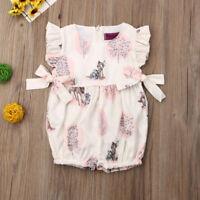 NEW Disney Bambi Baby Girls Pink Ruffle Romper Sunsuit Jumpsuit