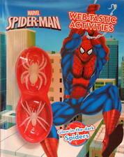 MARVEL SPIDER MAN COLOURING ACTIVITY BOOK & GLOW IN THE DARK CHILDREN KIDS FUN