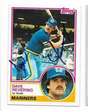 DAVE REVERING 1983 TOPPS AUTOGRAPHED SIGNED # 677 MARINERS