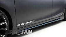 V8 MOTORSPORT Vinyl Decal door sticker Racing Sport  WHITE
